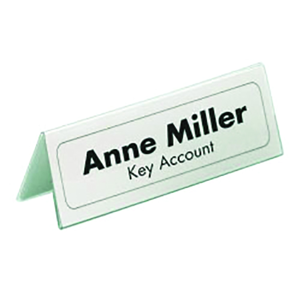 Durable Table Name Holder 61x150mm (Pack of 25) 8050 | DB8050