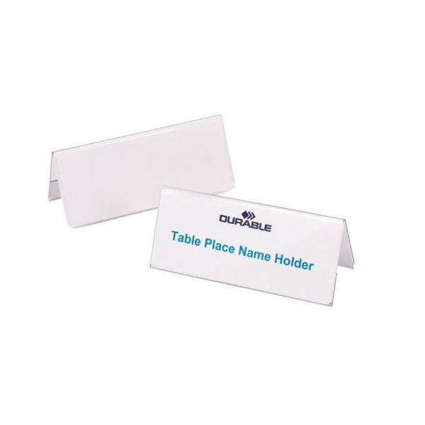 Durable Table Name Holder 52x100mm (Pack of 25) 8051 | DB8051