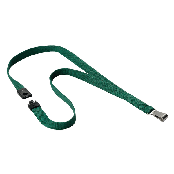 Durable Textile Lanyard With Snap Hook 15mm Dark Green 812732 | DB80870