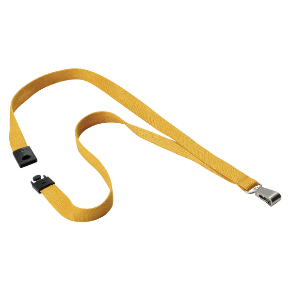 Durable Textile Lanyard With Snap Hook 15mm Ochre 8127135 | DB80872
