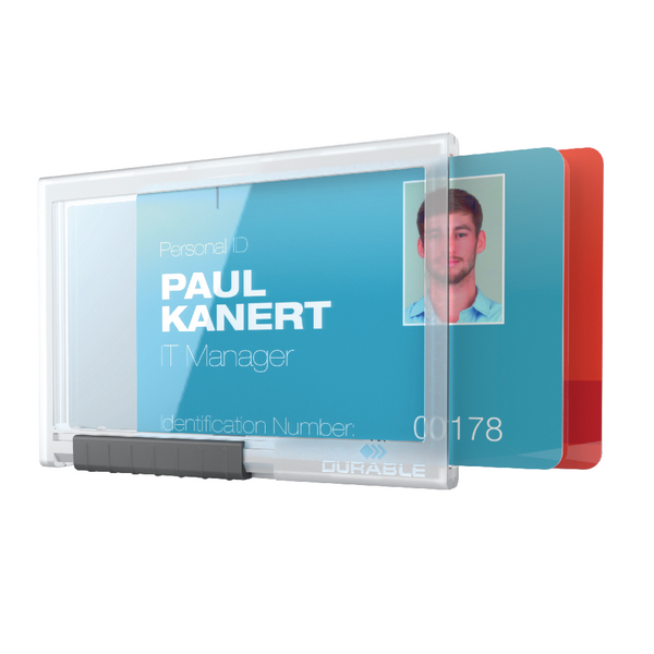 Durable Card Holder Pushbox Duo Transparent 892119 | DB80878