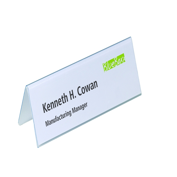 Durable Table Place Name Holder 61x210mm (Pack of 25) 8052/19 | DB81055