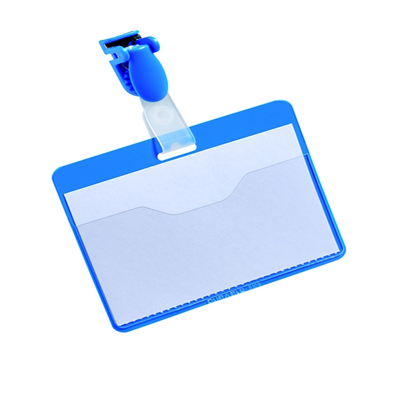 Durable Blue Visitor Name Badge 60x90mm (Pack of 25) 8147/06 | DB814706