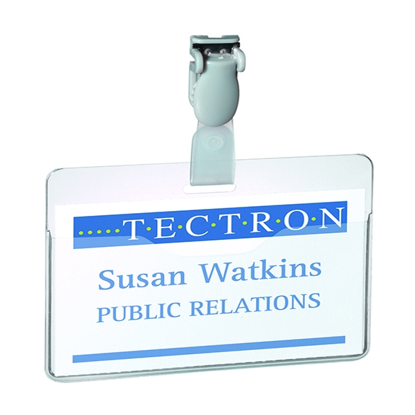 Durable Clear Visitor Name Badge 60x90mm (Pack of 25) 8147/19 | DB814719