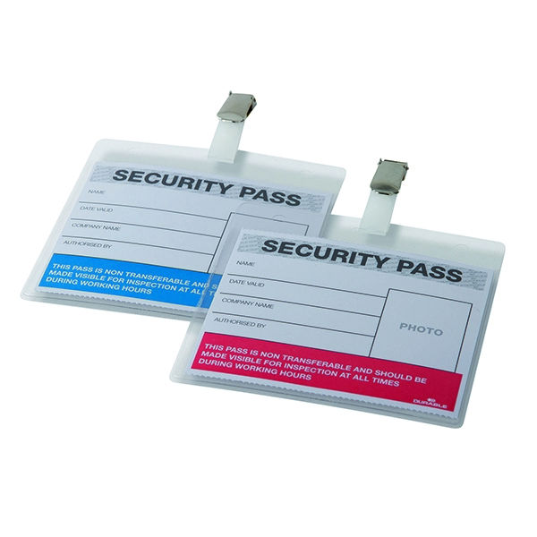 Durable Colour-Coded Security Pass Holder (Pack of 25) 999108004 | DB90922