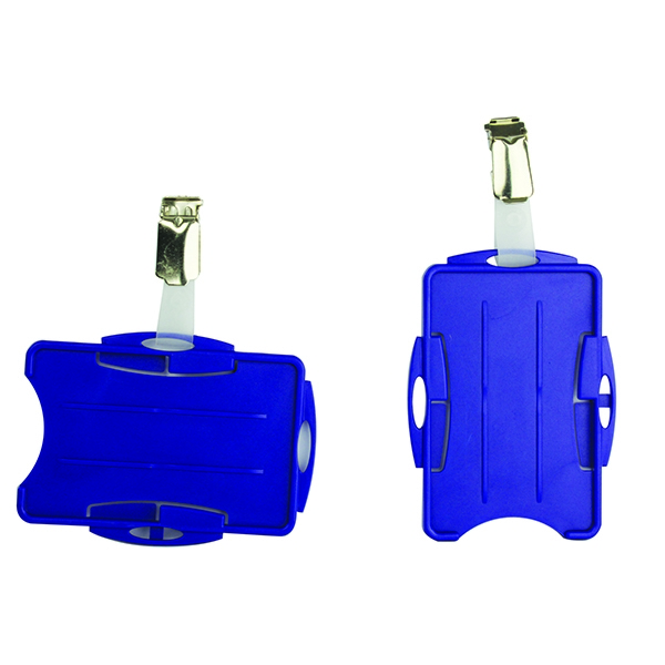 Durable Blue Dual Security Pass Holder (Pack of 25) 8218/06 | DB90938