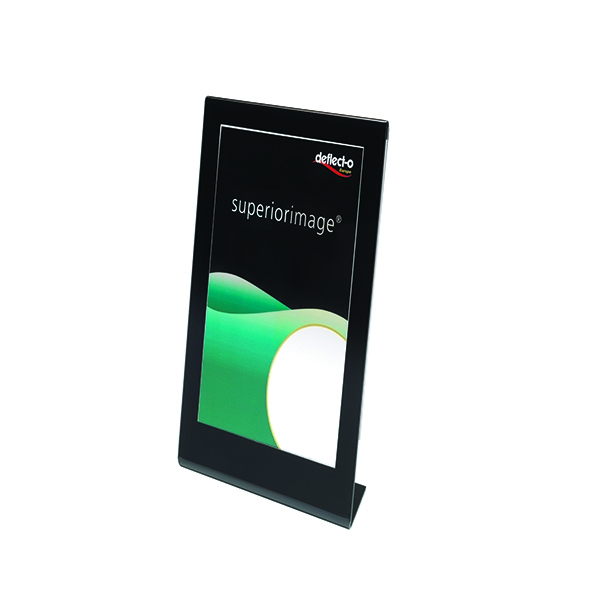 Deflecto A4 Sign Holder Black /Clear DE69775EU | DF00107