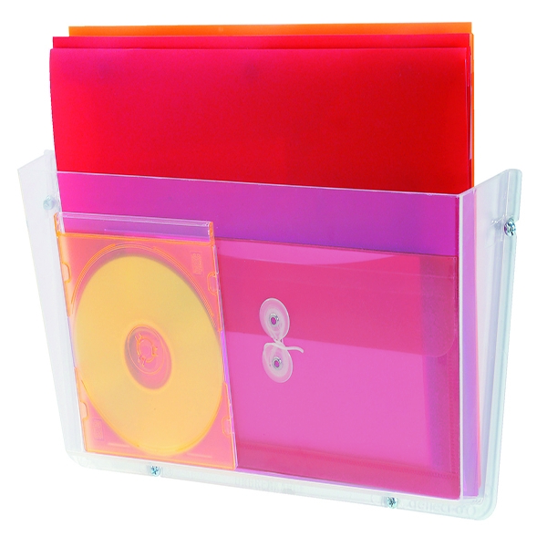 Deflecto Non Breakable Wall File Pocket A4 Clear | DF63201