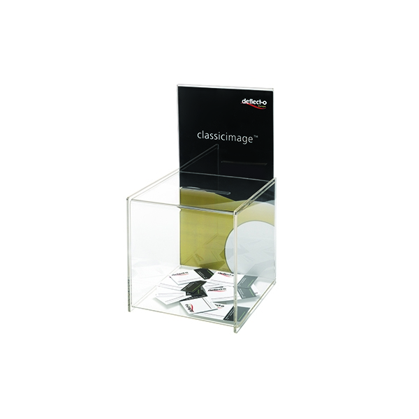 Deflecto Clear Suggestion Box/Sign Holder DE66001 | DF66001