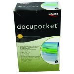 Deflecto Clear A4 Linked Wall File Pockets (Pack of 3) DE736YTCRY | DF73601