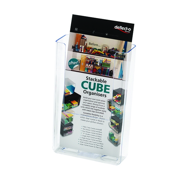 Deflecto DL Clear Flat Back Literature Holder DE76001 | DF76091