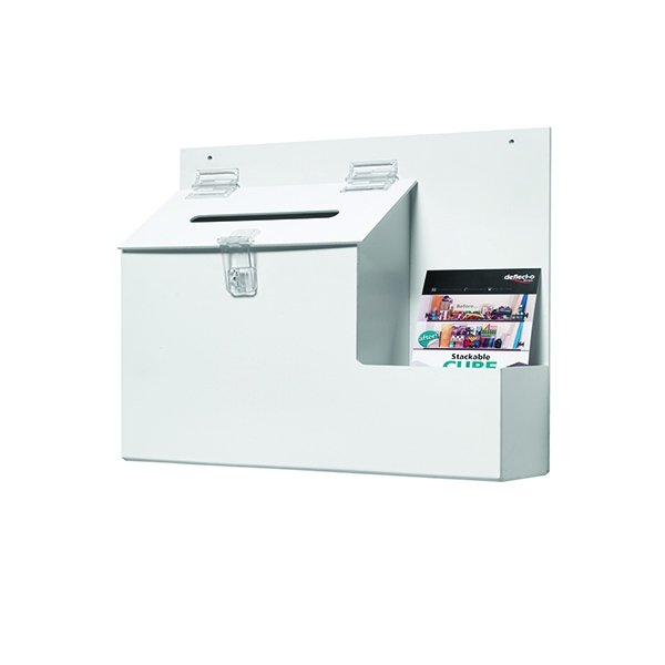 Deflecto Ballot/Suggestion Box White | DF79803