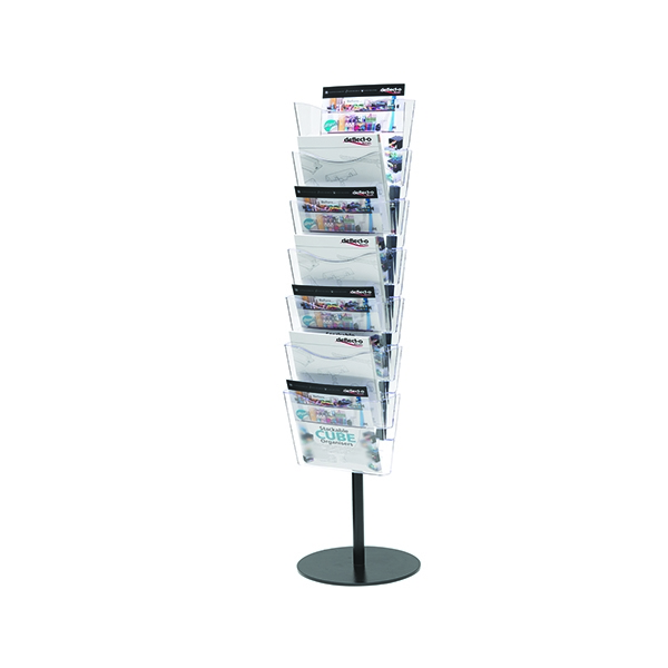 Deflecto Literature File Floor Stand A4 7 Pocket CP082YTCRY | DF88233