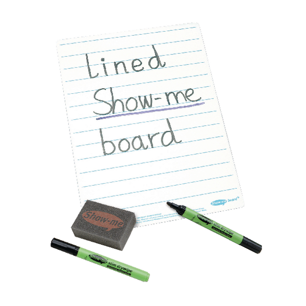 Show-me A4 Lined Whiteboards C/LIB | EG60025