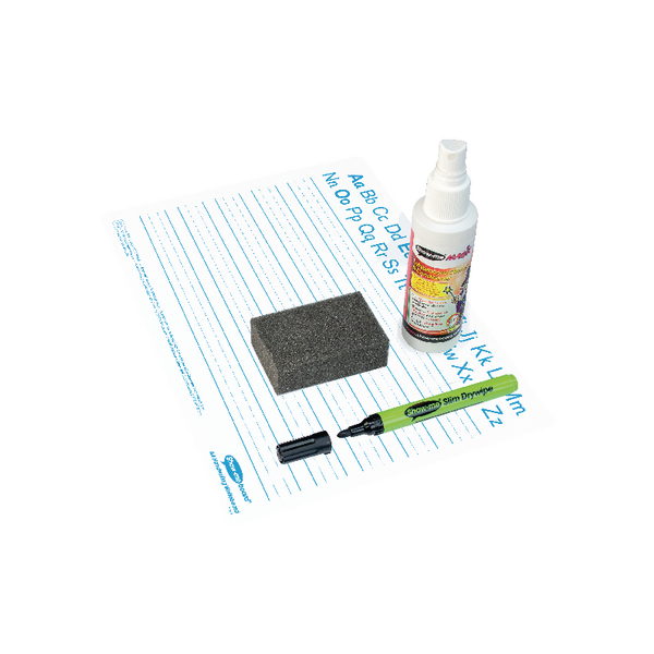 Showme Classpack Drywipe Board with Pens and Erasers Pack of 35 C/HWB | EG60029