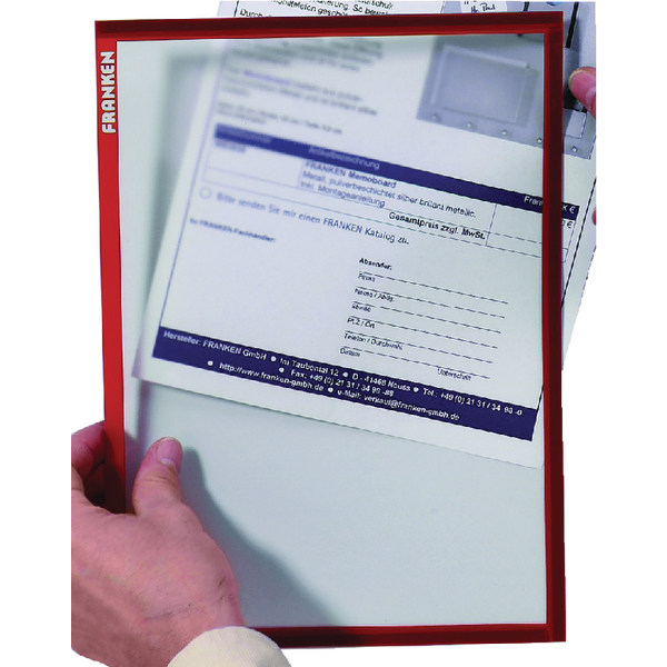 Franken Document A4 Holder Red ITSA4M 01 | FA18968