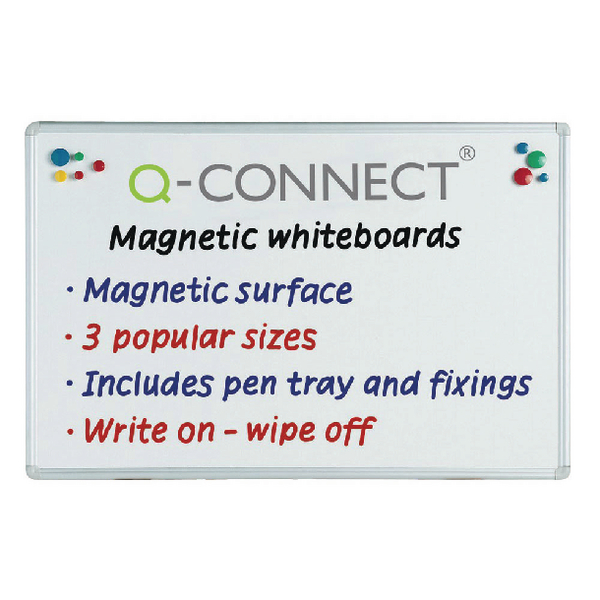 Q-Connect Aluminium Magnetic Whiteboard 1800x1200mm KF01081 | KF01081