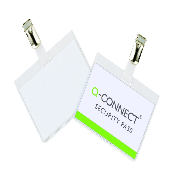 Q-Connect Security Badge 60x90mm (Pack of 25) KF01562 | KF01562