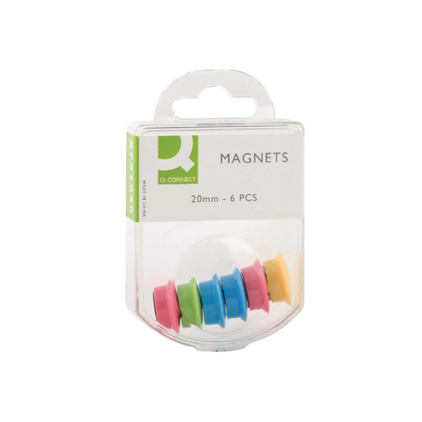 Q-Connect Magnet 24mm Assorted (Pack of 60) KF02040Q | KF02040Q