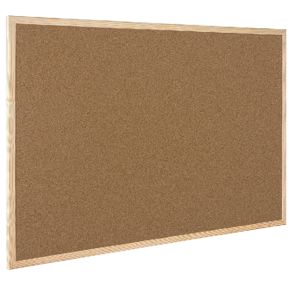 Q-Connect Cork Board Wooden Frame 400x600mm KF03566 | KF03566