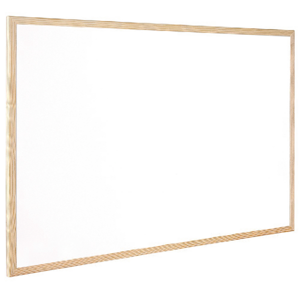 Q-Connect Wooden Frame Whiteboard 600x900mm KF03571 | KF03571