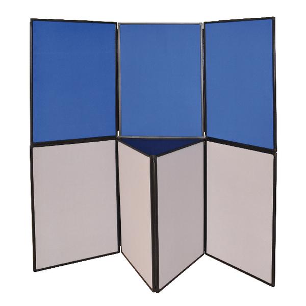 Q-Connect Display Board 6 Panel Blue /Grey DSP330516   KF11132