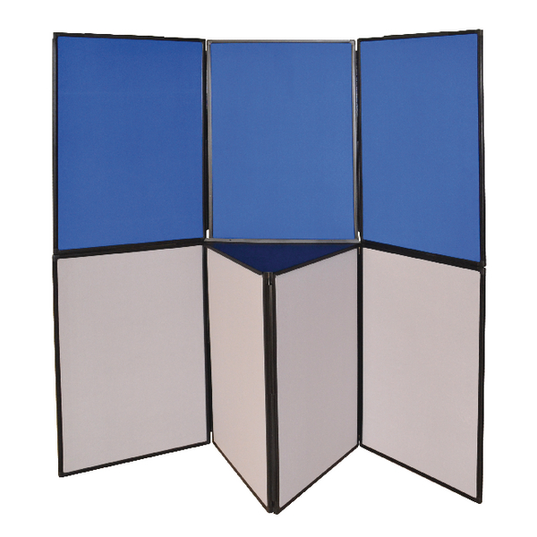 Q-Connect Display Board 3 Panel Blue /Grey DSP330513   KF11133