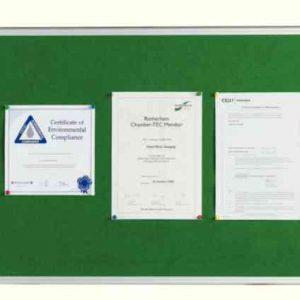Q-Connect 1800x1200mm Aluminium Frame Green Notice Board 54034205   KF26065