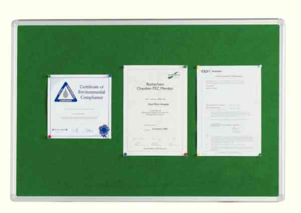 Q-Connect 1800x1200mm Aluminium Frame Green Notice Board 54034205 | KF26065