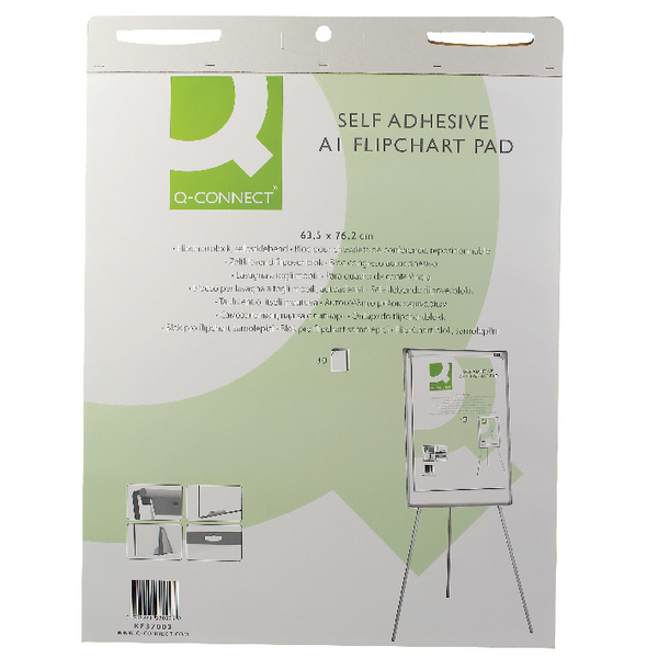 Q-Connect Self Adhesive A1 Flipchart (Pack of 2) KF37003 | KF37003