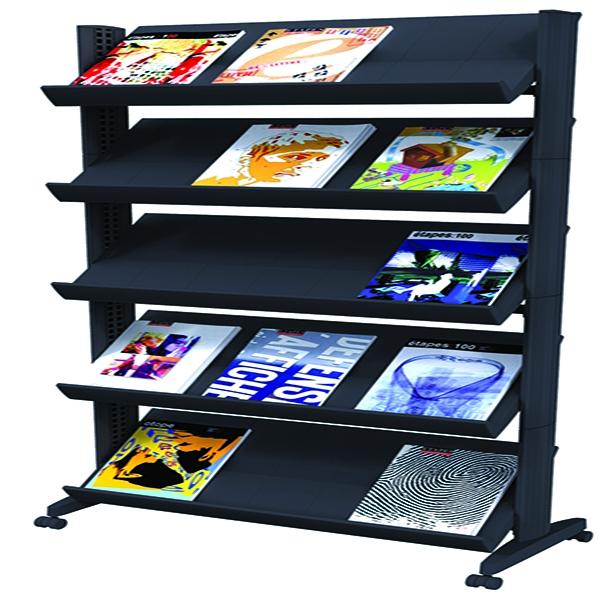 Fast Paper Black Mobile Easy Literature Display Wide Corner F255N001   MF88054