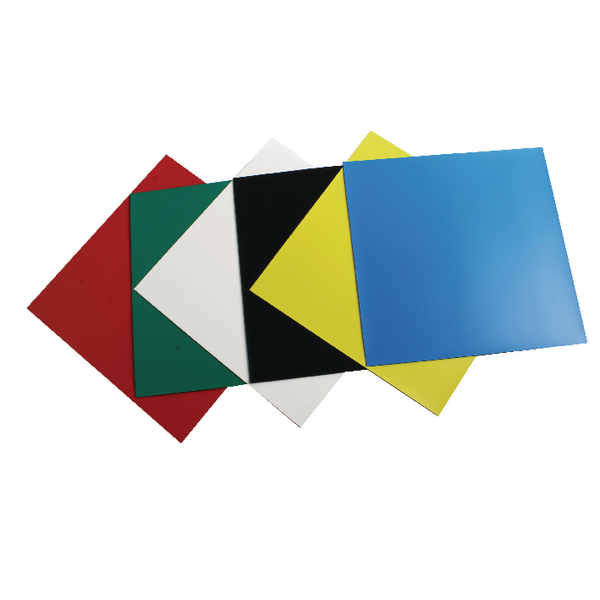 Nobo Assorted Colours 150mm Magnetic Squares (Pack of 6) 1901104 | NB12055