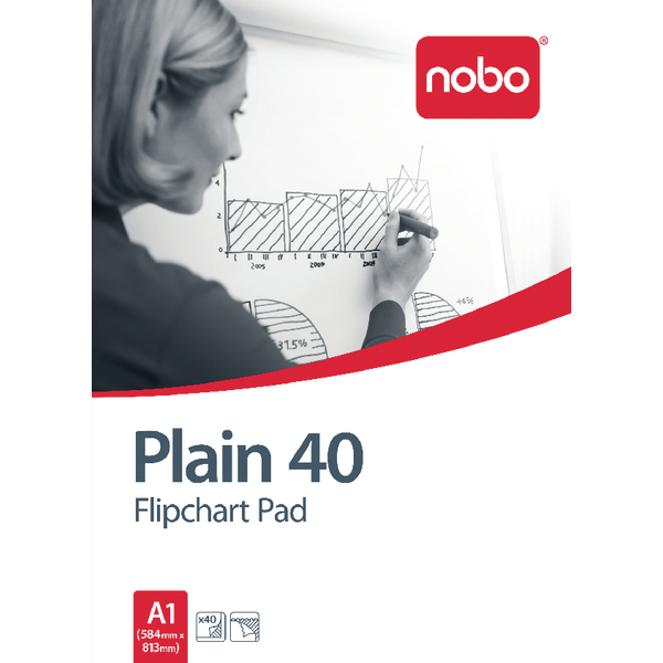 Nobo Flipchart A1 Pad Plain FPA1 Pack of 5 34631165 | NB31165