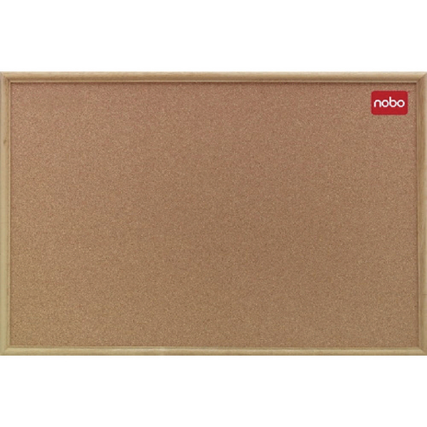 Nobo 1800x1200mm Cork Classic Oak Noticeboard 37639005 | NB39005