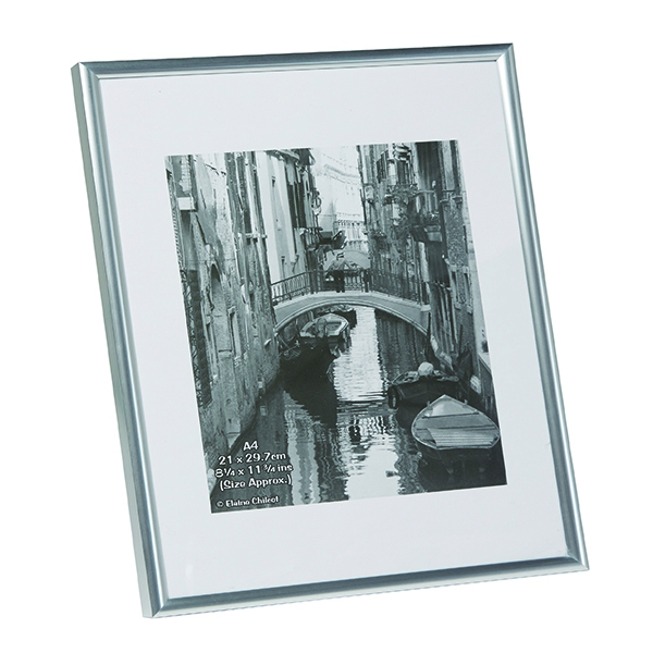 Photo Album Company Silver A4 Back Loading Certificate Frame A4MARSIL-NG | PHT00056