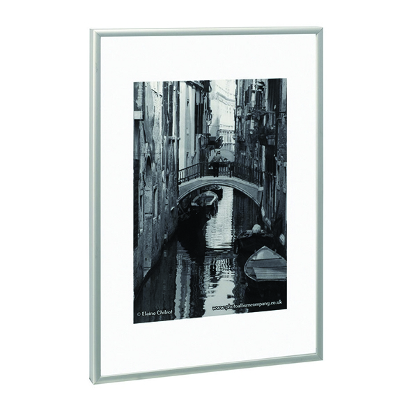 Photo Album Company Brushed Aluminium A2 Certificate Frame PAAFA2B | PHT00113