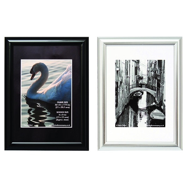 Photo Album Company A4 Shiny Black Certificate Frame PILA4SHIN-Black | PHT01716