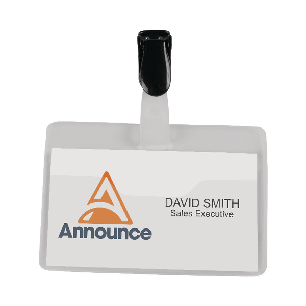 Announce Security Name Badge 60x90mm (Pack of 25) PV00922 | PV00922