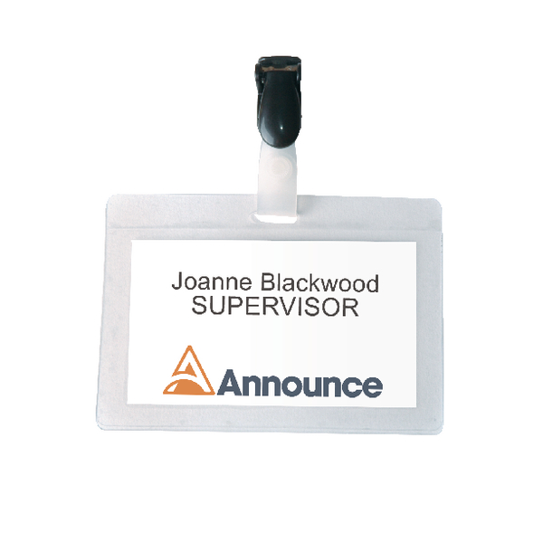 Announce Self-Laminating Badge 54x90mm (Pack of 25) PV00924 | PV00924