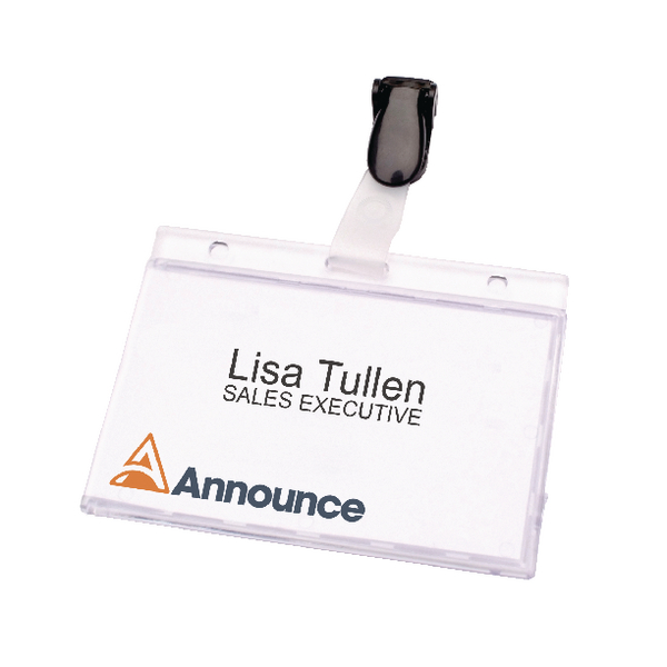 Announce Security Pass Holder 60x90mm (Pack of 25) PV00925 | PV00925