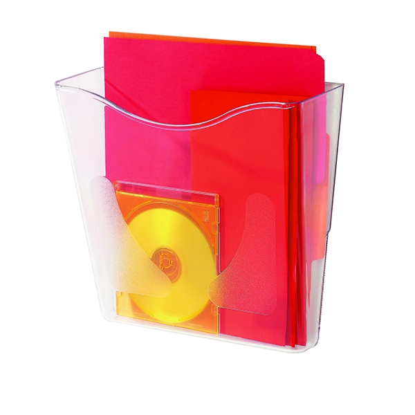 Deflecto Crystal Portrait A4 Literature Holder CP078YTCRY | RN07833