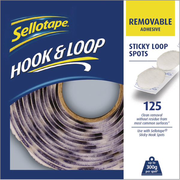 Sellotape Loop Spots Removable White (Pack of 125) 2055790 | SE05819