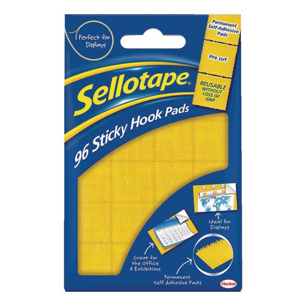 Sellotape Sticky Hook Pads (Pack of 96) 1445170 | SE4543