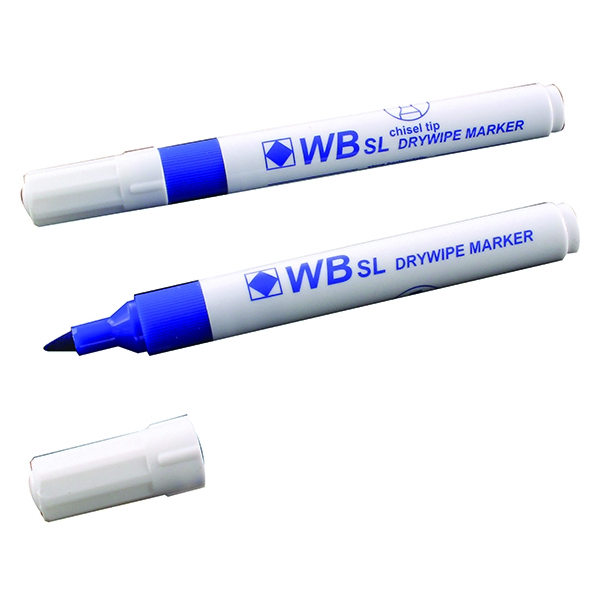Blue Whiteboard Markers Chisel Tip (Pack of 10) WX26036 | WX26036