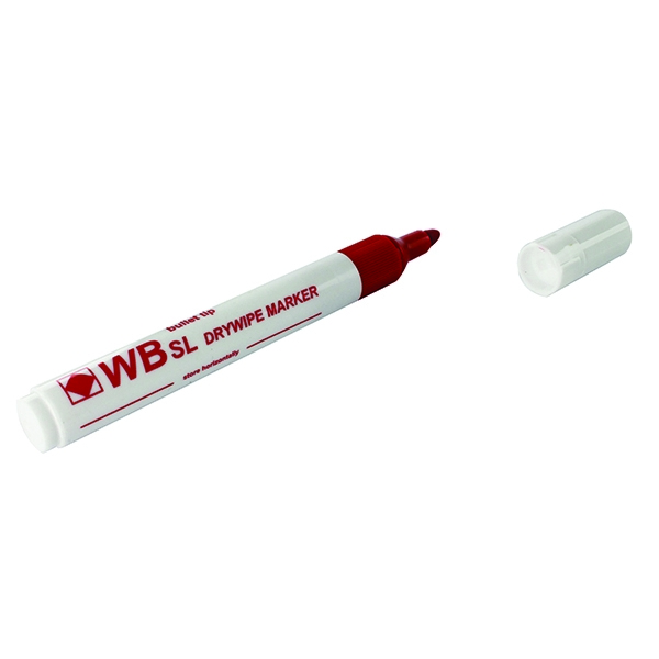 Red Whiteboard Markers Chisel Tip (Pack of 10) WX26037 | WX26037