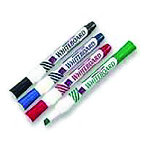 Assorted Whiteboard Markers Chisel Tip (Pack of 4) WX26038 | WX26038