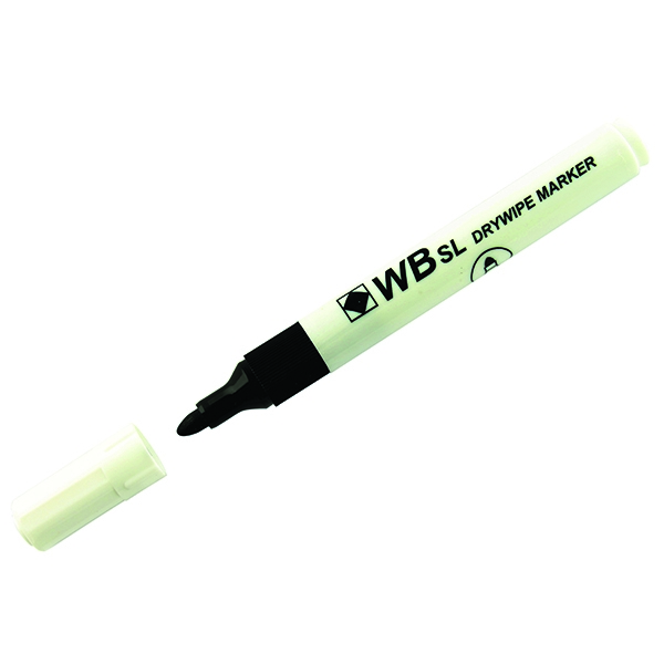 Black Whiteboard Marker Pens Bullet Tip (Pack of 10) WB15 804032 | WX98001